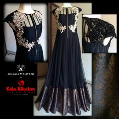 Salwar New Designer Black Anajali Mahthani Long Anarkali Suit COD Available… Choli Dress, Anarkali Dress, Long Anarkali, Indian Dresses, Indian Outfits, Desi Wear, Designer Anarkali, Indian Attire, Types Of Dresses