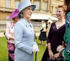 The Duchess of Gloucester meets guests at a special Garden Party at Buckingham Palace to mark