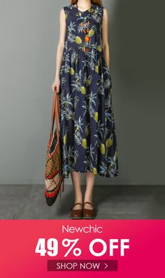 I found this amazing Pineapple Print Sleeveless Pockets Vintage Dresses with US$45.99,and 14 days return or refund guarantee protect to us. --Newchic #Womensdresses #womendresses #womenapparel #womensclothing #womensclothes #fashion #bigdiscount #shopnow Women's Dresses, Vintage Dresses, Cheap Summer Dresses, Laos People, Pineapple Print, Print Patterns, Shop Now, High Waisted Skirt, Pockets