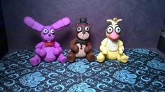 Five nights at Freddy's inspired sculptures. This is the first set of the original 3 characters.