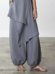 Bell Pant in Light Linen