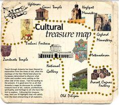little cultural map of Armenia