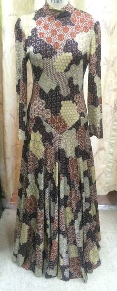 1970's Metal Maxi Dress by OnCueVintage on Etsy