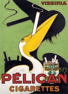 Pelican Cigarettes ad, 1930s