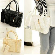 Ladies-Designer-Large-Womens-Leather-Style-Tote-Shoulder-Bag-Handbag