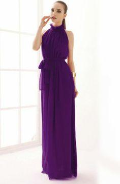 purple chiffon maxi