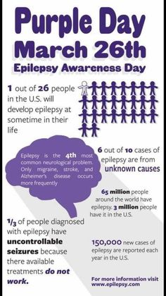 Raise Epilepsy Awareness with Purple Day – The Bridge Rolandic Epilepsy, Epilepsy Awareness Day, Epilepsy Facts, Epilepsy Quotes, Temporal Lobe Epilepsy, Nervous System Problems, Ways To Gain Weight, Seizure Disorder, Purple Day