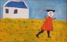 Anna Margit (1913 - 1991) Fehér ház - 1971., 22-23.p. technika: vászon, olaj méretek: 28 x 18 cm kikiáltási ár: 950.000 Ft leütési ár: 1.800.000 Ft