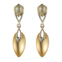 Ophelia Gold Jeweled Post Earring::Earrings::Jewelry By Category::Alexis Bittar