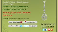 I just entered the Schubach Jewelers' 'Celebrate 2013!' Contest! Click this Pin to see how to enter to win a Sterling Silver and Diamond Necklace!