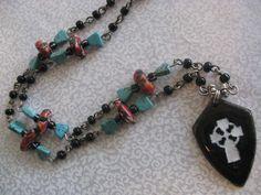 Celtic cross necklace by Boho Rain, via Etsy.