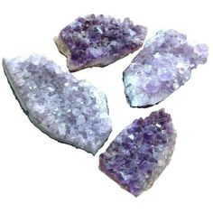 Natural Amethyst Rock Crystals - Set of 4 ($85) ❤ liked on Polyvore featuring home, home decor and decorative objects