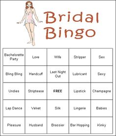 Free printable bachelorette party games! #loverslane www.loverslane.com