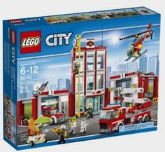 Rescue you those in need and build your own fire station with LEGO! This Fire Station 60110 from LEGO City has everything you need to put the fire out. Lego Sets, Lego City Sets, Lego Batman, Toys R Us, Children Toys, Legos, Lego Ville, Lego City Fire Station, Station Fire