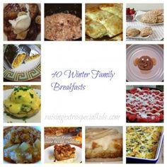 40 Winter Family Breakfast Recipes