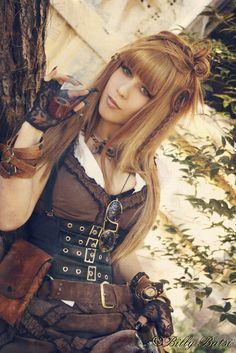 Crystaline : Steampunk Fashion Archives--love this picture. Great use of a cincher with a harness that doesn't look like she's trying to be as naked as possible. Sorry, I'm judgy. Live with it.
