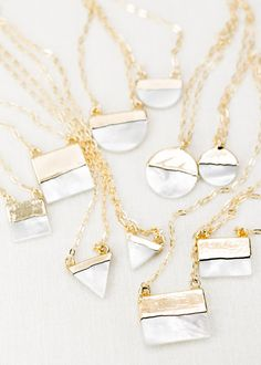 Keahi gold dipped shell necklace gold necklace gold strand