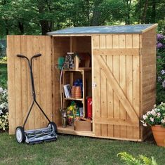 garden shed for trash and mower | To utilise every inch in your garden shed so you can maximise your ...