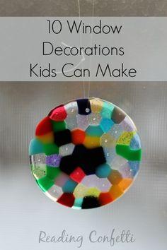 10 Suncatchers & Window Decorations   Reading Confetti