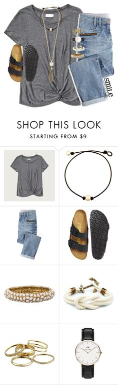 """""""birks"""" by smbprep ❤ liked on Polyvore featuring Abercrombie & Fitch, Wrap, Birkenstock, Kenneth Jay Lane, Kendra Scott, Daniel Wellington and Cole Haan"""