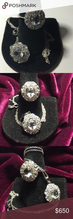 Coming Soon: Goshenite Pair : Demi Parure Stunning.  Demi Parure Goshenite Gems.. Rare Beryl Gems Jewelry Rings