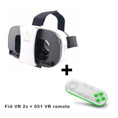 "FiiT VR 2S Virtual Reality VR Glasses Mobile Phone 3D Video Movie Helmet Cardboard VR 2 for iPhone/Samsung 4.0-6.5"" Smart Phone"