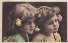 Adorable Little Edwardian Sisters Grete & Hanni Reinwald...1908 by decorables on Etsy