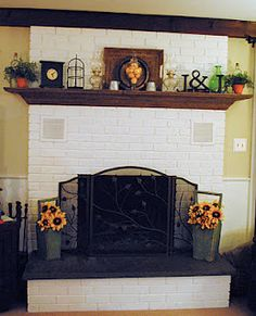 Thinking about painting our brick fireplace surround. And changing the mantle.