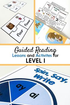 Guided Reading Activities and Lesson Plans for Level I Guided Reading Lesson Plans, Guided Reading Activities, Teaching Reading, Learning, Decoding Strategies, Reading Comprehension Strategies, Phonics Lessons, Phonics Activities, Writing Resources
