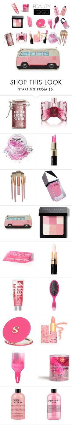 In The Pink Beauty To Go!! by siriusfunbysheila1954 on Polyvore featuring beauty, Bobbi Brown Cosmetics, In Your Dreams, tarte, beautyblender, philosophy, Victoria's Secret, Viktor & Rolf, Major Moonshine and Miss Selfridge