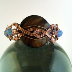 Celtic Style Wire Wrapped Copper Bracelet/Cuff Bracelet/Bangle Bracelet by MysticMetalDesigns on Etsy