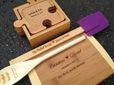 Housewarming Gift Set  $58.00 engraved gifts personalized