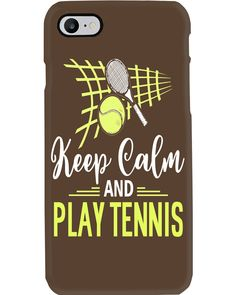 Keep Calm And Play Tennis T-Shirt shirts, apparel, posters are available at TeeChip. Tennis Games, Tennis Tips, Play Tennis, Tennis Funny, Basketball Funny, Serena Williams, Tennis Photography, Tennis World, Tennis Workout