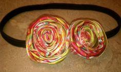 DIY rolled ribbon headband. Darling!!!