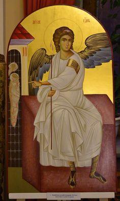 Risultati immagini per holy places Byzantine Icons, Byzantine Art, History Icon, Art History, Religious Icons, Religious Art, Archangel Gabriel, Holy Mary, Catholic Art