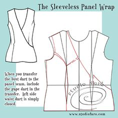 Fixing armhole and neckline issues for sleeveless styles.  Gape Darts.  studiofaro well-suited blog :)