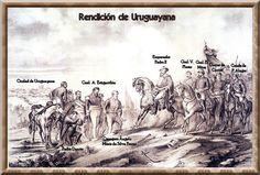 La rendición de Uruguayana. de Víctor Meirelles.  Fecha: 16 de julio-18 de septiembre de 1865  Lugar: Uruguayana, Brasil