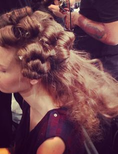 Pushing the limits of volume backstage from Jenny Packham show! #TRESmbfw #mbfw