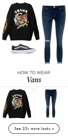 """Untitled #899"" by ariannastradlin on Polyvore featuring G.V.G.V., J Brand and Vans"
