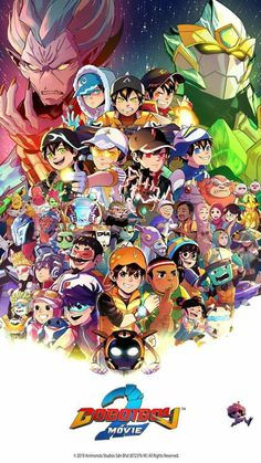 Boboiboy The Movie 2 Official Poster Art Galaxy Movie, Boboiboy Galaxy, Anime Galaxy, Boboiboy Anime, Anime Comics, Anime Art, Bear Wallpaper, Galaxy Wallpaper, Cartoon Movies