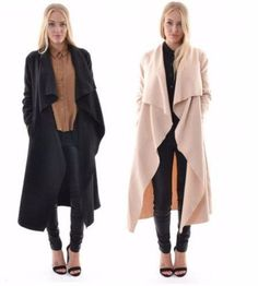 - Stylish waterfall cape trench coat for the modern woman - Urban design offers…