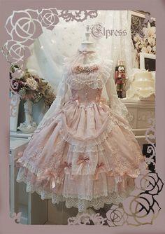 Elpress L -An Ode To Love- Lolita Jumper Dress,Lolita Dresses, Harajuku Fashion, Kawaii Fashion, Lolita Fashion, Cute Fashion, Fashion Boots, Pretty Outfits, Pretty Dresses, Beautiful Dresses, Cute Outfits