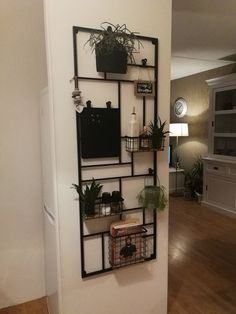 a beautiful fabrique-style closet to hang up little stuff like plants! a beautiful fabrique-style closet to hang up little stuff like plants! Small Living Room Decor, House Design, Home, Wall Shelving Units, Small Living Room, Home Deco, Room Decor, Room Layout, Living Room Designs
