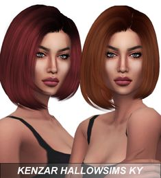 HallowSims KY Hair Retexture at Kenzar Sims via Sims 4 Updates
