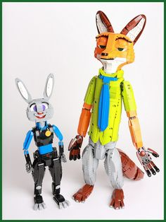 LEGO Ideas - Zootopia: Judy Hopps and Nick Wilde by sheo. :) If you have a LEGO Ideas account than please support to help make this a real set! Lego Creations Instructions, Lego Super Mario, Lego Creative, Lego Sculptures, Amazing Lego Creations, Lego Pictures, Disney Animated Films, Lego Military, Judy Hopps