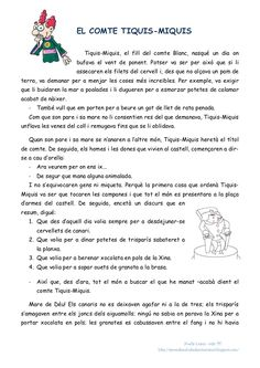 Lectures comprensives 4t Primaria català Lectures, Literacy Centers, Comprehension, Mathematics, Valencia, Classroom, Teaching, Activities, Draw