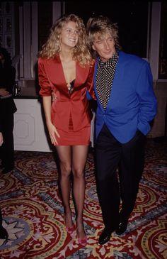 Rachel Hunter and Rod Stewart | StyleList Canada