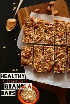5-Ingredient Granola Bars- Simple flavors, wholesome ingredients, salty-sweet and a lot of crunch!