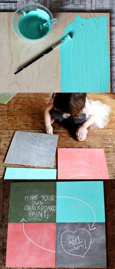 How to make Chalkboard Paint in any color.