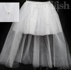 Skirt length:40cm/Tail length:80cm  waist is made by elastic, so it fits any size